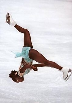 chauvinistsushi:  erykahbaddont:  asiaraymonet:  Surya Bonaly, world renowned French skater whose trademark move is her backflip, where she only lands on one blade in order to keep the move legal. She's amazing!  Yoooooo  it always amuses me when I remember the ice skating community banned this phenomanal move because a black person literally had raised the bar and white people were to bitter to do better so they banned a move that would ass progress to the sport.  and then she raised the…