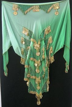 Two Tone Green Triangle Hip Scarf - FT-94