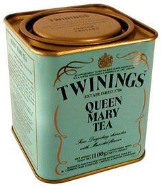 Manufacturer: Twinings Country: Great Britain Tea name: Queen Mary Tea Type of tea: čierny. Tea flavor: Darjeeling Series: oblúk. Weight (in grams): 100
