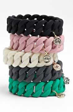 I want one of these! MARC BY MARC JACOBS 'Rubber Turnlock' Stretch Bracelet | Nordstrom