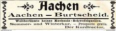 Werbung - Original-Werbung/ Anzeige 1901 - AACHEN - BURTSCHEID - ca. 90 x 25 mm