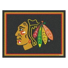 Fan Mats NHL Hockey Indoor Area Rug, Multi