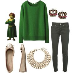 """"""" 10 Cute Fall Outfits Inspired By Our Favorite Shrek Characters """" Fiona Costume, Shrek Character, Princesa Fiona, Character Outfits, Movie Outfits, Cute Fall Outfits, Geek Chic, Disneybound, Fashion Outfits"""