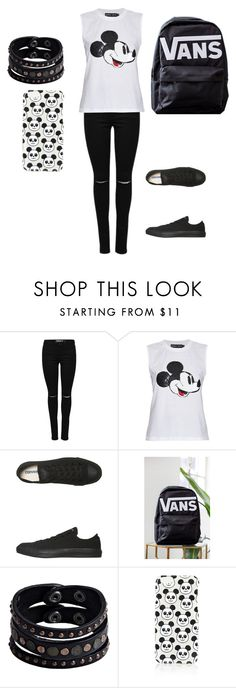 """""""Untitled #108"""" by music-is-bea ❤ liked on Polyvore featuring Markus Lupfer, Converse, Vans, Replay and Topshop"""