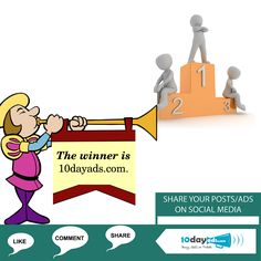 The winner is 10dayads.com #FreeAdvertisingOnline #FreeAdWebsites