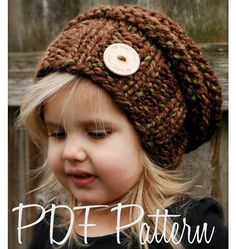 Knitting PATTERNThe Brielle Slouchy Toddler by Thevelvetacorn