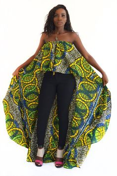 Fashioned African Clothing for Women, African Prints High Blouse Plus Size, Ankara Prints Top, Summe Latest African Fashion Dresses, African Print Fashion, Africa Fashion, African Prints, Ankara Fashion, African Attire, African Wear, African Dress, African Tops
