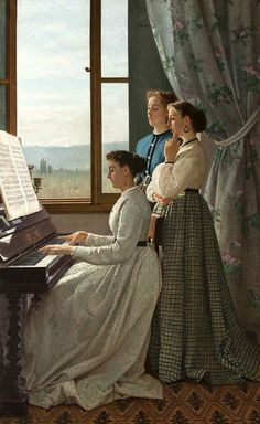 """Silvestro Lega """"Cantando una ballata"""" 1867 Olio su tela, Galleria Nazionale d'arte moderna, Firenze"""