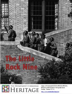 LITTLE ROCK NINE - Digital workbook aligning with standards H.12.3.4, H12.3.5, H13.3.3, H13.3.5, and H 13.3.6 for third grade Social Studies. - Comes with PowerPoint, Reading Review, and a Reader filled with literacy, vocabulary, crafts, songs, writing prompts and further resources. Find the PowerPoint and Reading Review at  http://www.arkansasheritage.com/Learn/dah-educational-resources Arkansas History Lesson Plan