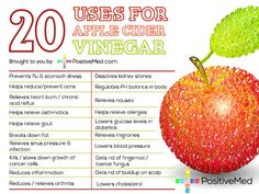 Apple Cider Vinegar - almost a miracle product according to Dr. Oz...........lol, I know I've been using it in my salad dressing now with Extra Virgin Olive Oil - in addition to being delicious, it's also healthy! #droz #diet #weightloss #loseweight #burnfat #loseweightfast #GarciniaCambogia