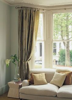 Ideas For Bay Windows Curtains Best Bay Window Curtains Ideas On Curtains In Bay Window Curtains Living Room Bay Window And Bay Window Treatments Bay Window Curtains Living Room, Bay Window Curtain Poles, Living Room Windows, Curtains With Blinds, Curtains For Bay Windows, Valance, Bay Window Blinds, Hang Curtains, Bay Window Treatments