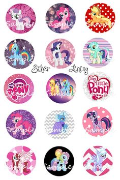 My Little Pony  Bottle Cap Images Email Only by SilverLiningImages, $1.75