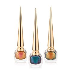 Christian Louboutin Debuts Scarabée Collection Of Nail Colors - Pursuitist Christian Louboutin Nail Polish, Beauty Shop Online, Fashion Mag, Fashion Outfits, Nail Colors, Lotion, Product Launch, Bronze, Take That