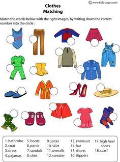 Resultado de imagen para the clothes activities for kids