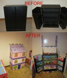 This is the BIG Christmas project I was working on for the kid, for those who don't know. Took an old VHS cabinet and converted it into a Lalaloopsy Dollhouse. :) Lots more pics on my Facebook page. ;)