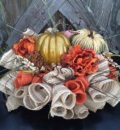 Autumn Centerpiece Fall Centerpiece Floral by BaBamWreaths on Etsy
