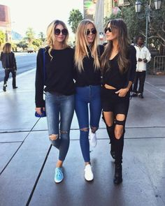 """""""Daily fashion via Tatjanamariposa® Tag your squad👇🏼👭😎"""" Neue Outfits, Outfits For Teens, Trendy Outfits, Summer School Outfits, College Outfits, Spring Outfits, Winter Outfits, Best Friend Pictures, Friend Pictures"""