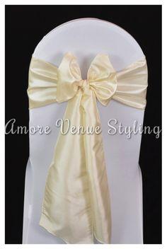 #wedding #sash #taffeta #ivory #bow