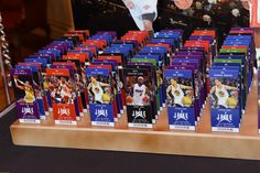 Basketball Ticket Place Cards with Photos of Players