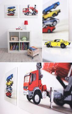 Gingered Things, DIY, kids room, wall decoration, canvas, toys, cars, boys room, Kinderzimmer, Leinwand, Spielzeug, Autos, Wanddeko, Jungs
