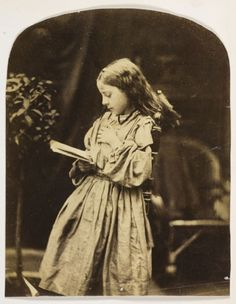 'Girl Reading' (circa 1860).  Albumen silver print attributed to Oscar Rejlander, British (born Sweden), 1813 - 1875.  Heaveninawildflower