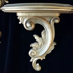 Antique Wall Brackets Gilded Gold Wooden by OldGLoriEstateSale