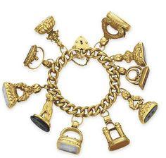 Elizabeth Taylor's charm bracelet.