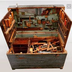 THIS EARLY 1900s SWEDISH TOOL CHEST IS SO HUGE IT CANT EVEN FIT IN THE FRAME...