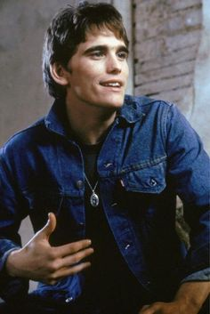 Get This Special Offer The Outsiders Matt Dillon in denim jacket Poster Beautiful Boys, Pretty Boys, Die Outsider, Young Matt Dillon, Ricky Dillon, Dallas Winston, Francis Ford Coppola, Rob Lowe, Cute Guys