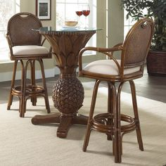Bay Isle Home Bay Point 3 Piece Pub Table Set Finish: Beach House