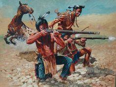"Taking Aim"" Original Large Oil Painting Don Pretchel Native ..."