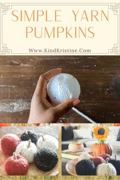 Fall Pumpkin Crafts, Easy Fall Crafts, Fall Crafts For Kids, Fall Diy, Holiday Crafts, Fall Craft Fairs, Diy Pumpkin, Halloween Yarn, Craft Day