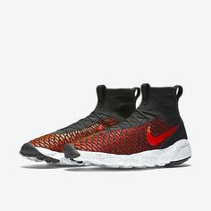 Nike Air Footscape Magista Flyknit Men's Shoe Black/Gym Red/Cool Grey/Bright Crimson