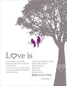 1 corinthians 13 Love is patient Personalized by fancyprints, $24.00