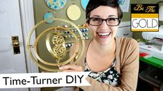 Make your own hanging time-turner decoration out of embroidery hoops and gold spray paint! For those crafty, DIY-loving Harry Potter fans out there.