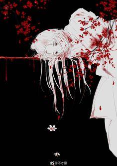 The wounds were deep. Manga Art, Anime Art, Anime Qoutes, Arte Horror, Chica Anime Manga, Sad Anime, Yandere, Chinese Art, In My Feelings