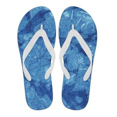 Blue Ice Mens Flip Flops