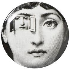 Porcelain Plate by Atelier Fornasetti
