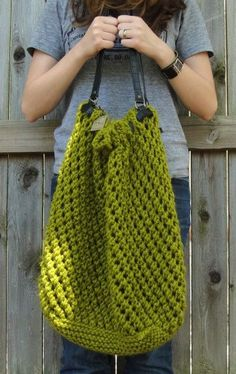 Free knitting pattern for Weekender Tote