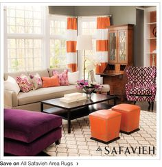 I actually like this orange and purple room! Does that make me a cheater?
