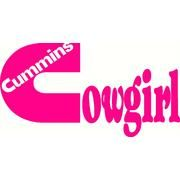 Girls Cummins cowgirl...this will go on my truck<3 i need a cummins!!!