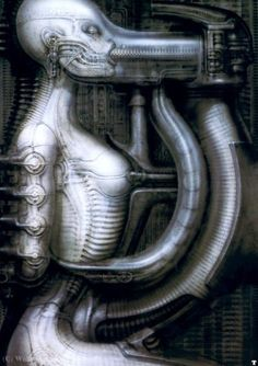 [Oldies] Surreal Art by Alien Creator H. Arte Horror, Horror Art, Hr Giger Art, Hr Giger Alien, Xenomorph, Dark Fantasy, Fantasy Art, Arte Robot, Arte Obscura