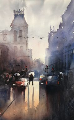 Stefan Gadnell present his watercolors and arts. Watercolor Artists, My Arts, Painting, Water Colors, Urban, Painting Art, Paintings, Painted Canvas, Drawings