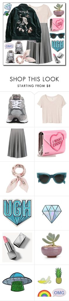 """Sin título #1875"" by mussedechocolate ❤ liked on Polyvore featuring New Balance, Monki, Joseph, Jimmy Choo, Manipuri, CÉLINE, Anya Hindmarch, Unicorn Lashes, Burberry and Eye Candy"