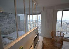Studio Paris 14e : rénovation d'un 36 m2 avec vue sur Paris - Côté Maison