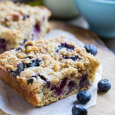 Lightened-Up Blueberry Coffee Cake #SplendaSweeties #Sweetswaps #ad