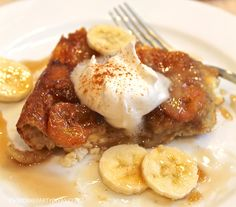 Overnight Bananas Foster Breakfast Casserole