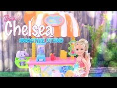 Unbox Daily:  Barbie Chelsea Smoothie Stand - 5 Piece Playset - New Toy Review - 4K - YouTube