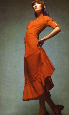 "By Barry Lategan for ""Vogue Italia,"" 1971  (via beauty-is-a-warm-gun.blogspot.com)"