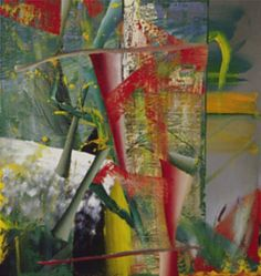 """Among the exhibited works there is also an abstract work to be found, 'Trumpets' from 1984. Regarding the early abstracts Richter said: """"The abstract pictures, […] the only difference is that in these the motif evolves only during the process of painting. So they imply that I do not know what I want to represent."""""""